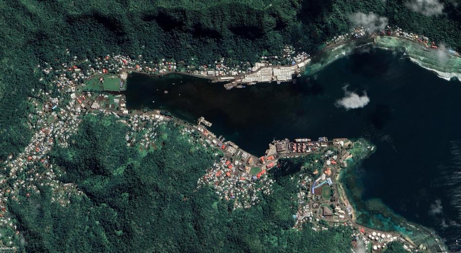 vue satellite de Pago Pago