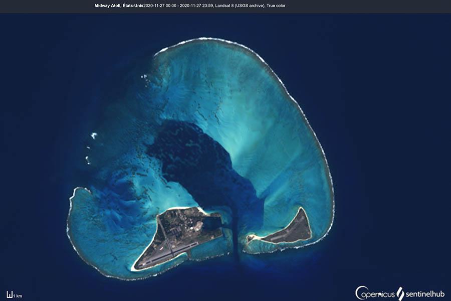 midway image satellite