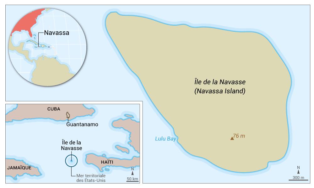 navassa map — carte de la navasse