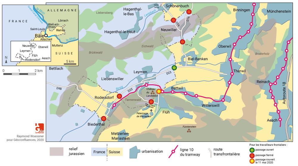 Raymond Woessner — Leymen frontière fermeture tram transfrontalier
