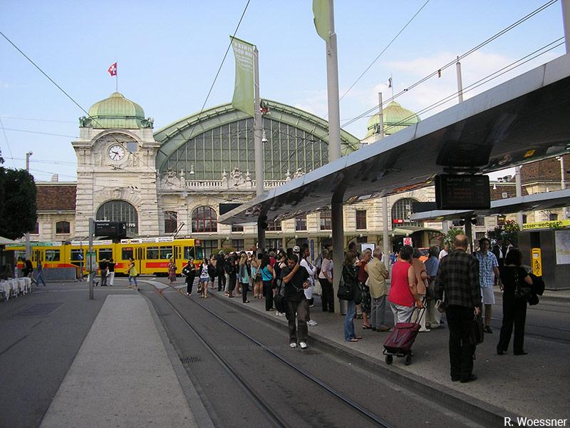 Raymond Woessner — Gare des tramways de Bâle