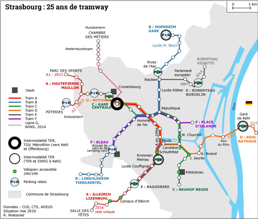 Raymond Woessner — plan du tramway de Strasbourg