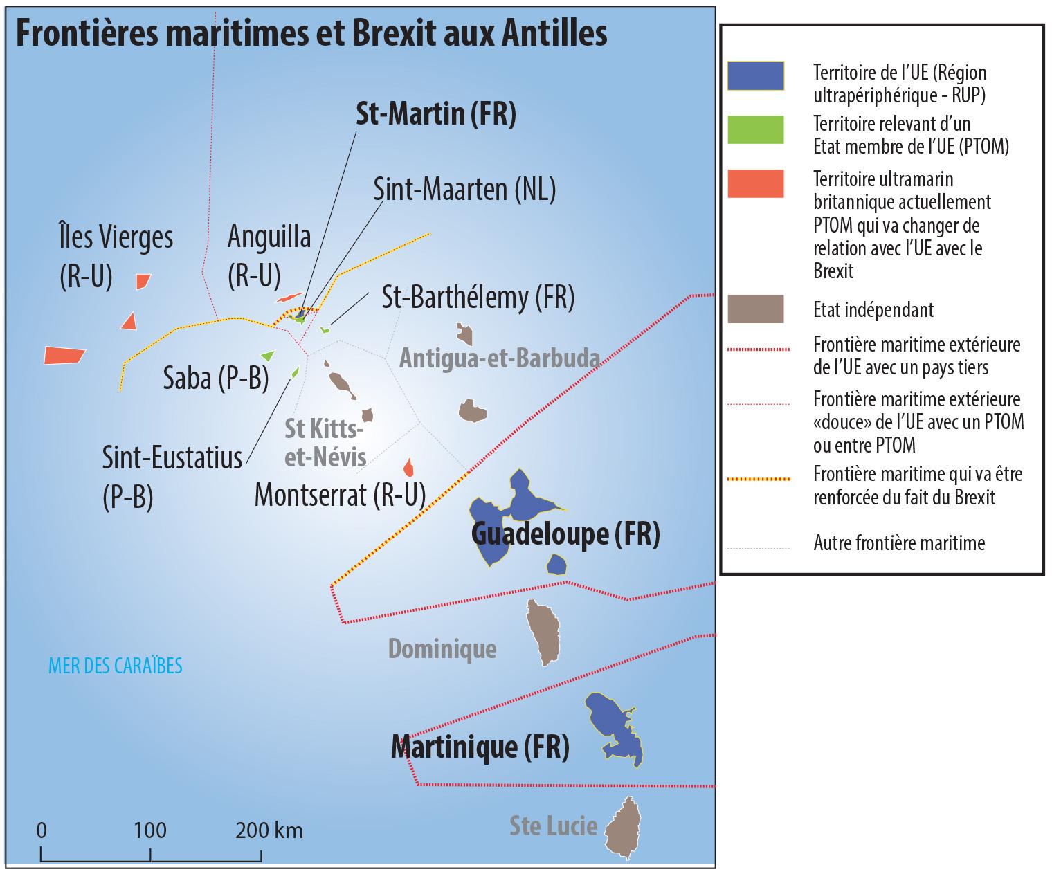 Pascal Orcier — carte Antilles PTOM du Royaume-Uni