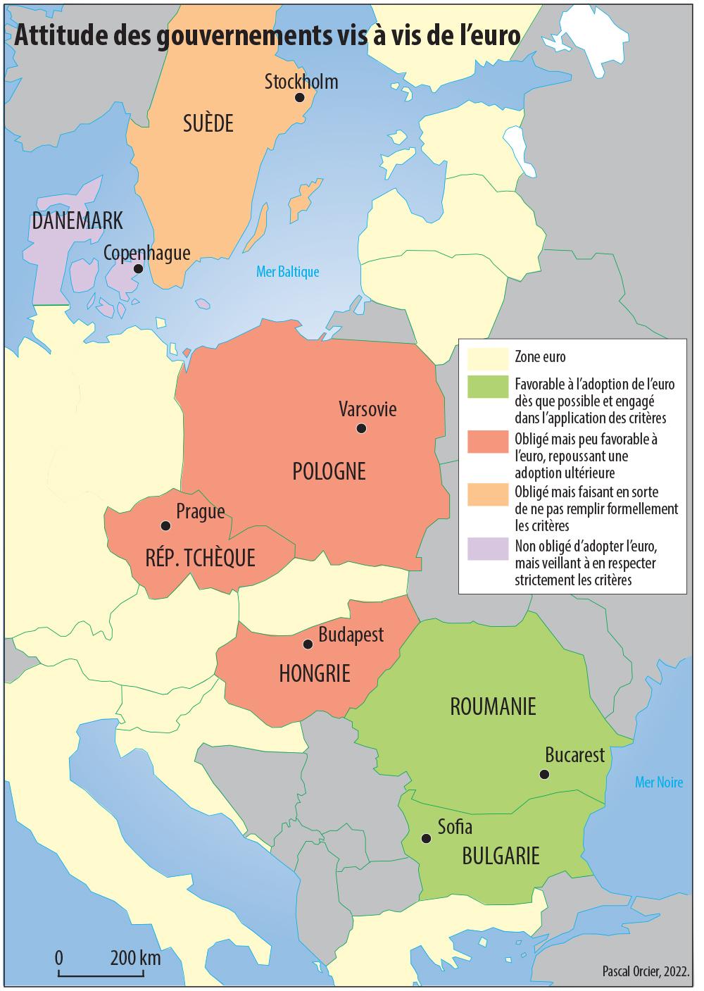 Pascal Orcier — Attitude des gouvernements vis à vis de l'euro carte
