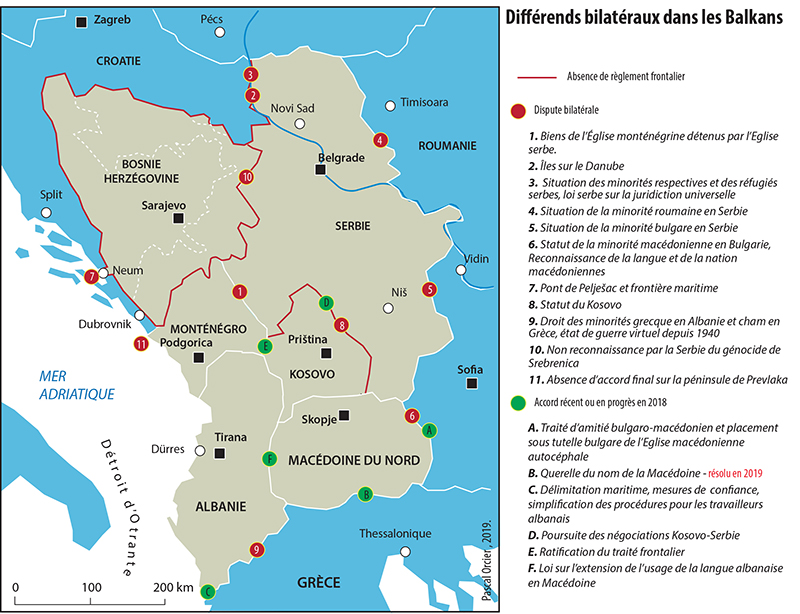 Pascal Orcier — carte contentieux dans les Balkans