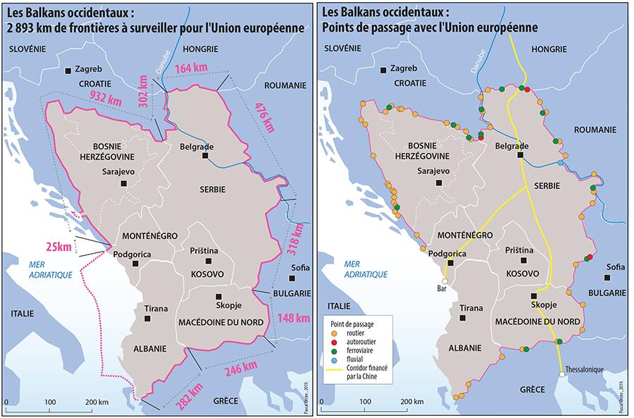 Pascal Orcier, carte : intégration des Balkans occidentaux