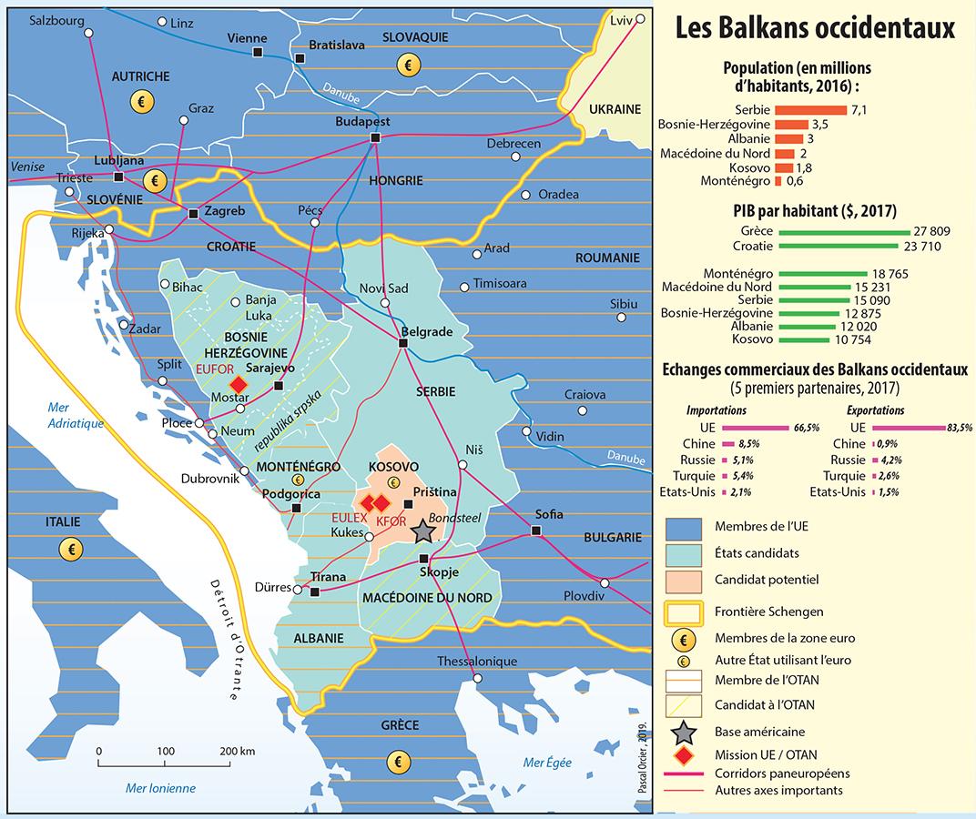 Pascal Orcier — Carte : Les Balkans occidentaux et l'adhésion à l'Union européenne
