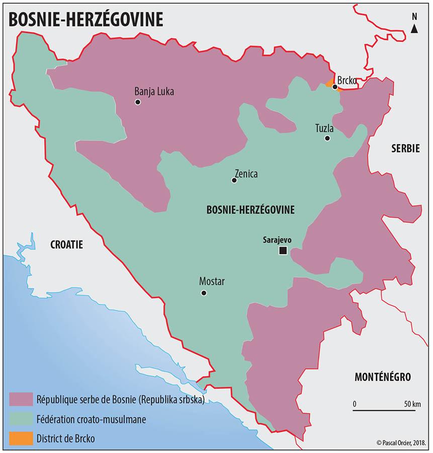 Carte Bosnie-Herzégovine