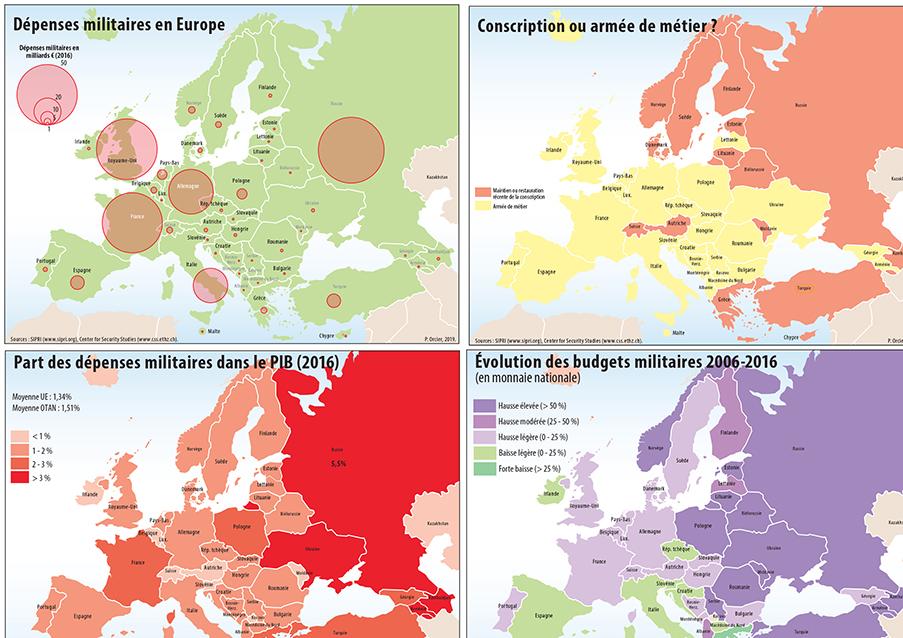 Pascal Orcier — l'Europe militaire : dépenses militaires, budgets militaires