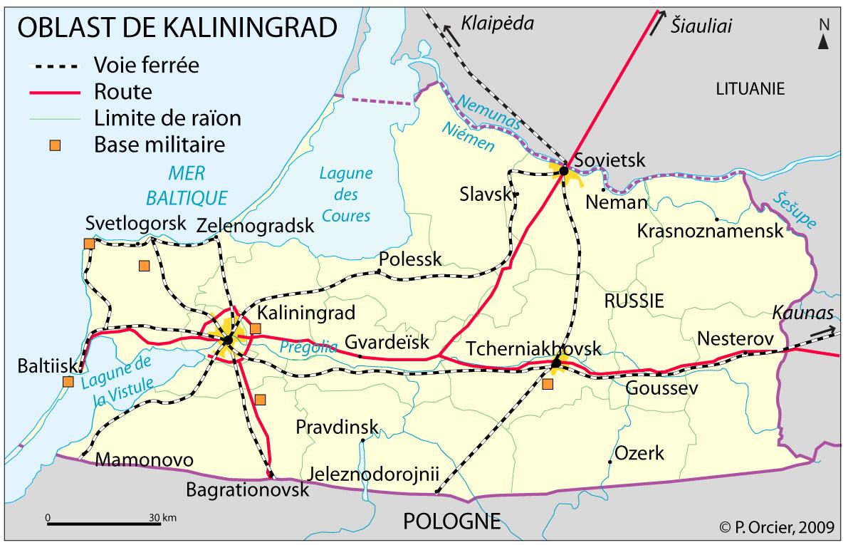 enclave de kaliningrad oblast et raïon
