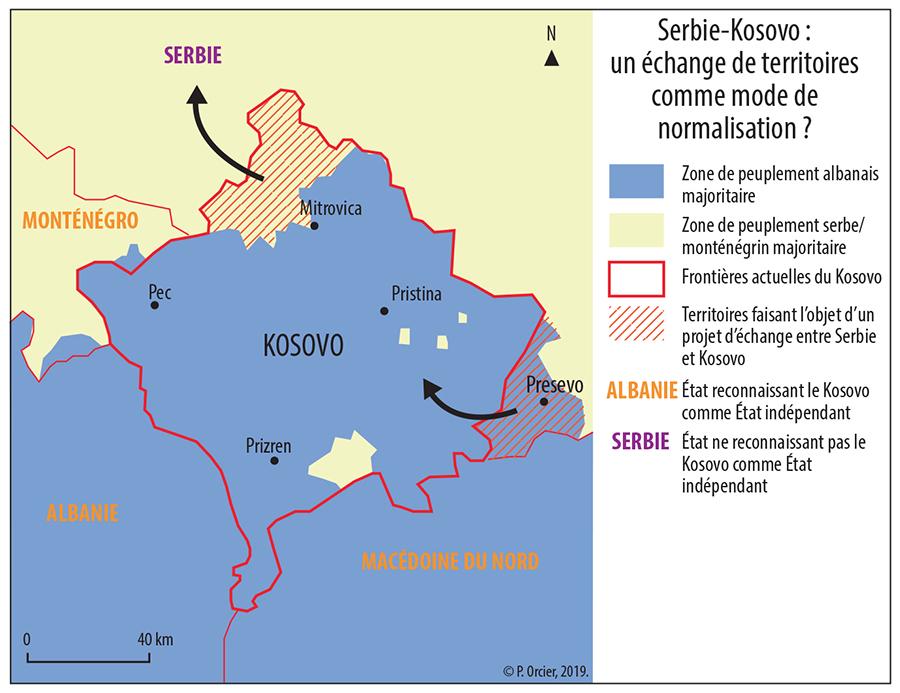 Pascal Orcier — échange de territoires au Kosovo