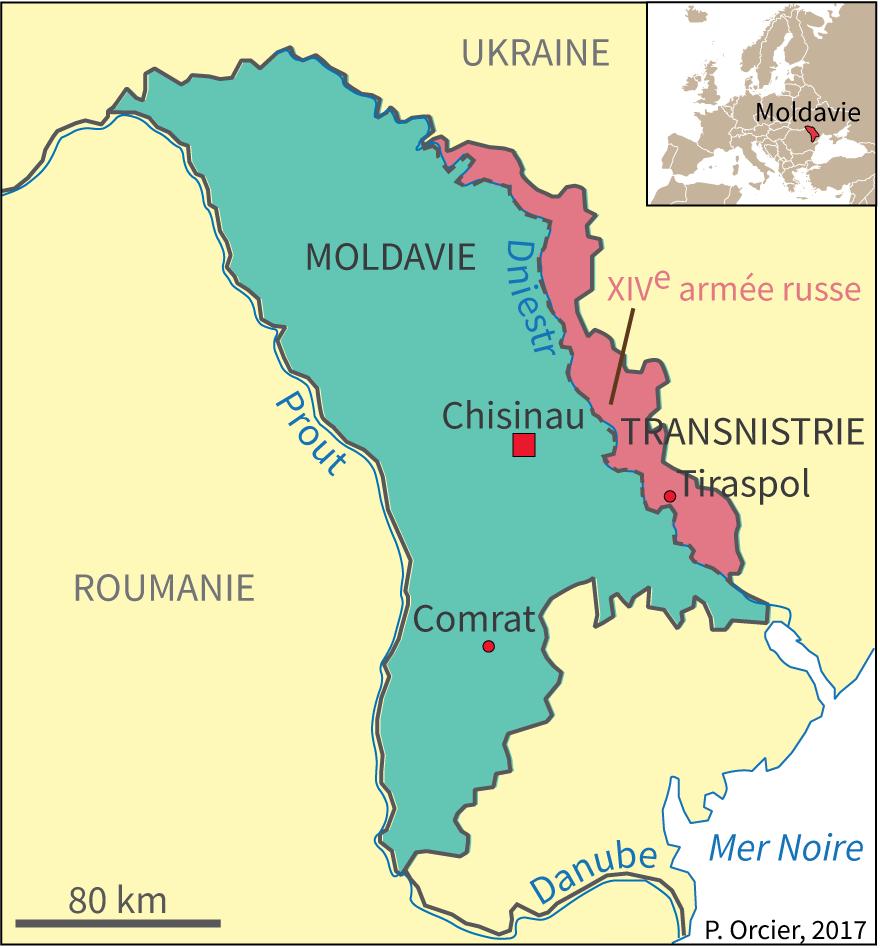 Carte Moldavie Transnistrie armée russe