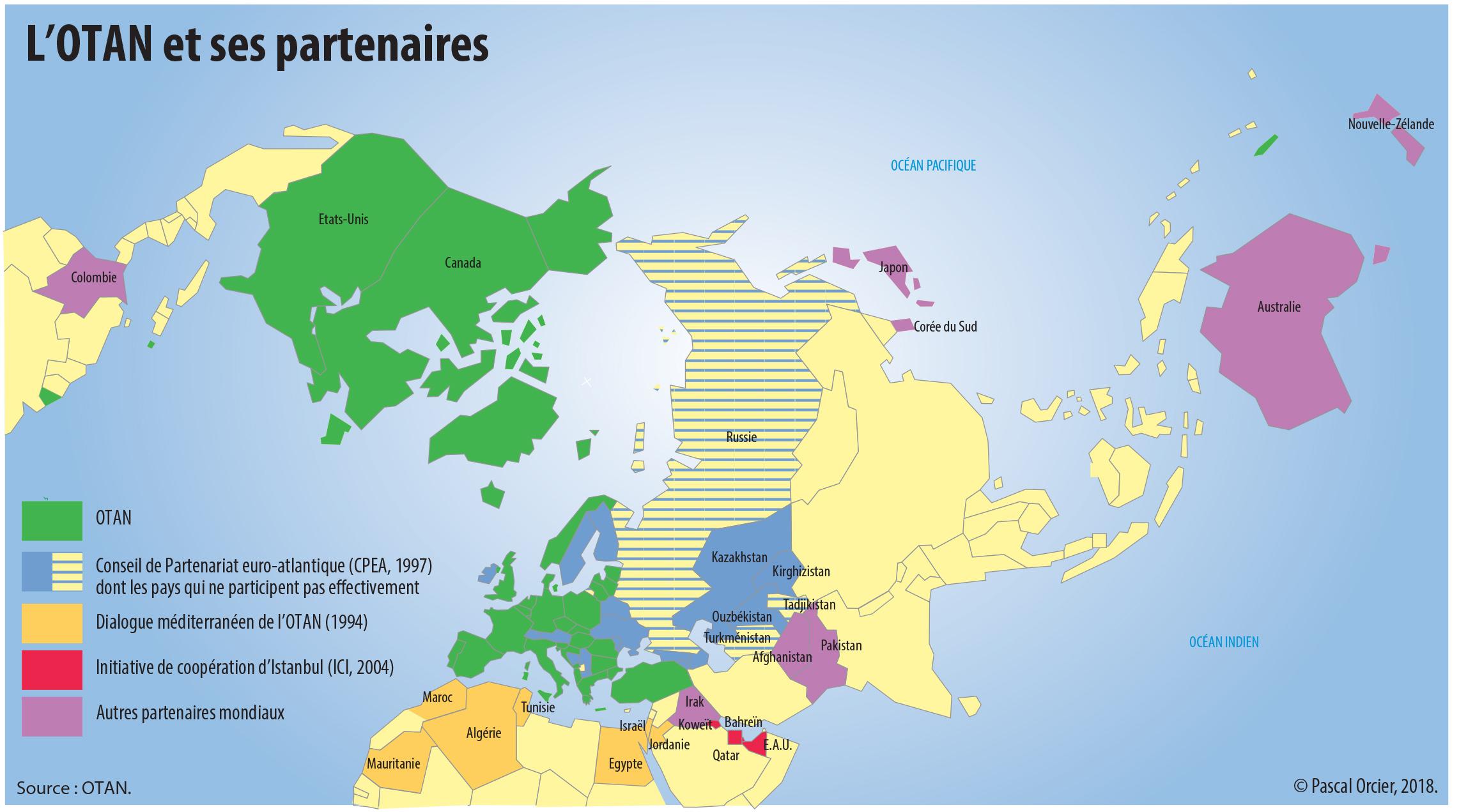 Pascal Orcier — Carte des partenaires de l'OTAN