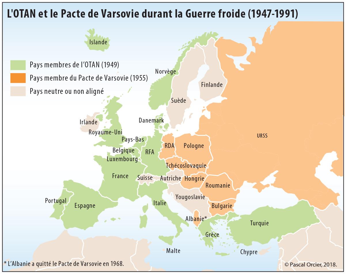 Pascal Orcier — OTAN pacte de Varsovie pendant la guerre froide