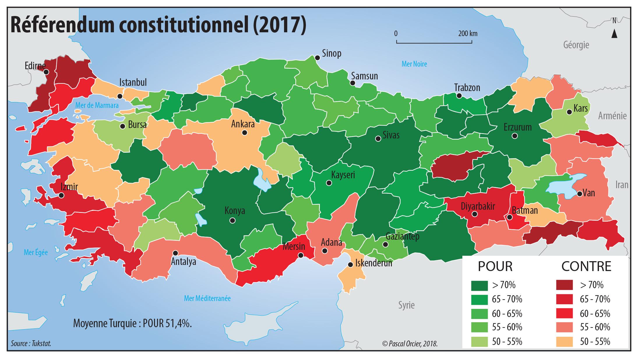 Pascal Orcier — référendum en Turquie carte