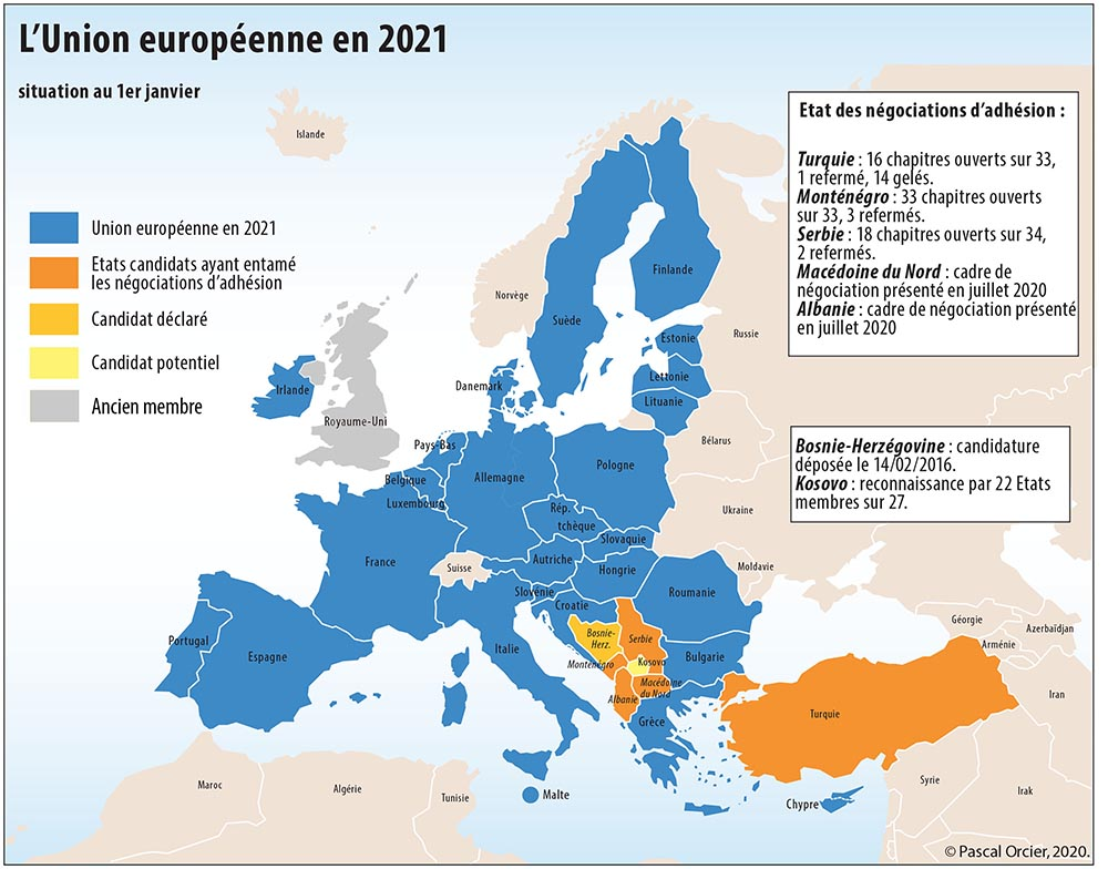 Pascal Orcier — l'Union Européenne en 2021 carte