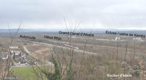 Fanny Arnaud — Le Rhin vu depuis le rocher d'Isptein