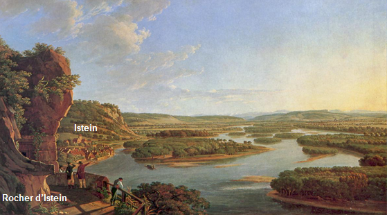 Birmann tableau le Rhin vu depuis le rocher d'Ipstein