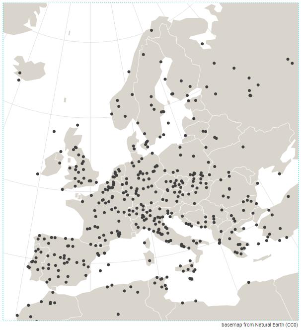 Khartis — europe biens inscrits UNESCO 2015 carte