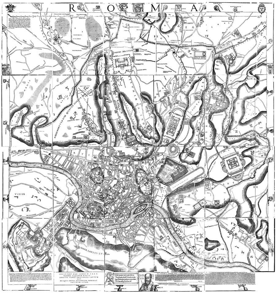 Leonardo Bufalini — plan de Rome 1551