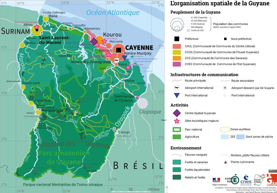 Carte de la Guyane recto