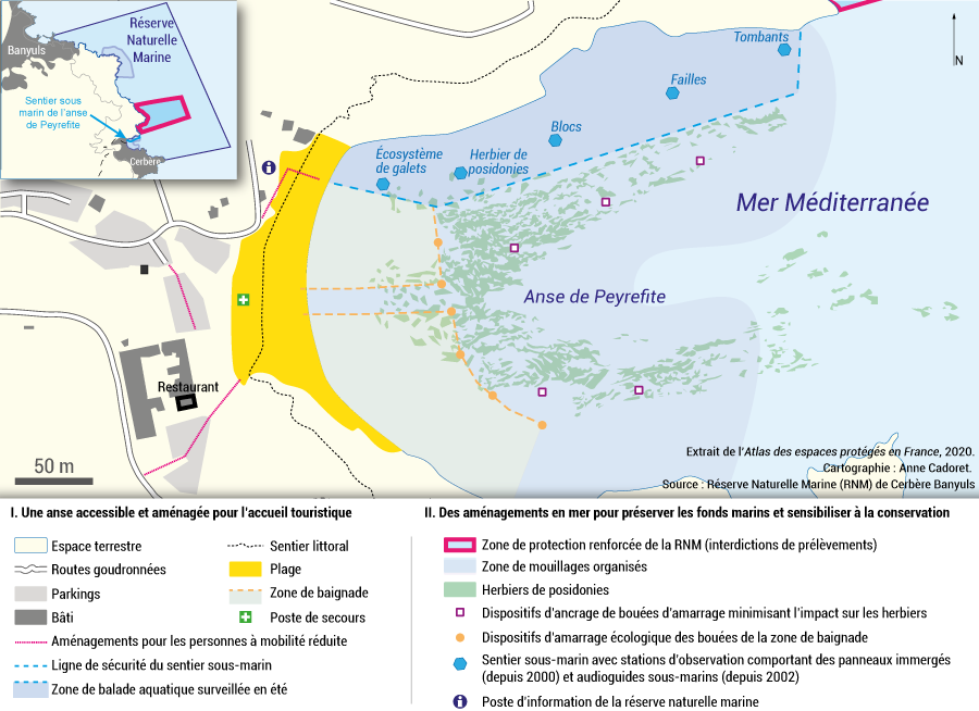 Carte réserve naturelle marine Cerbère Banyuls