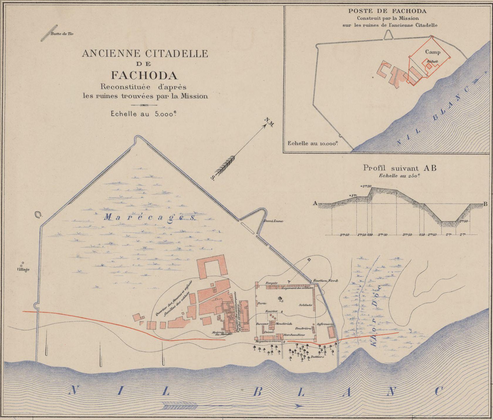 carte Bugnet 1934 mission Marchand