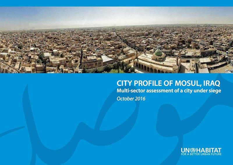 Couverture du rapport de 2016 sur Mossoul, ONU-Habitat