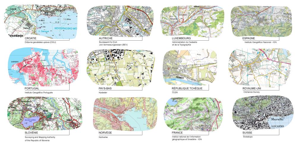 Jérémie Ory — comparaison entre différentes cartes topographiques de différents pays