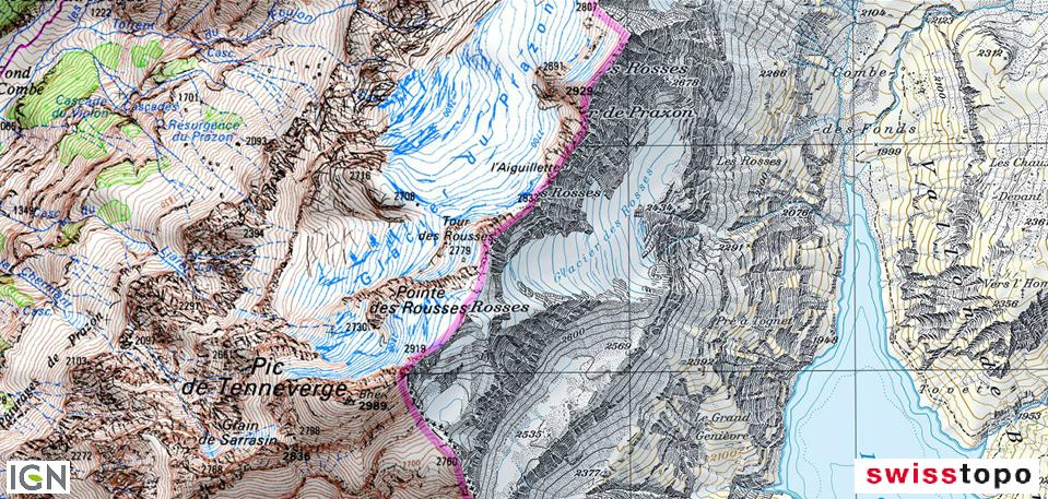 Jérémie Ory — comparaison frontalière IGN et SwissTopo