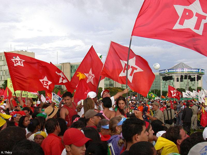 La prise de fonction de Lula, le 1er janvier 2003. Cliché H. Théry