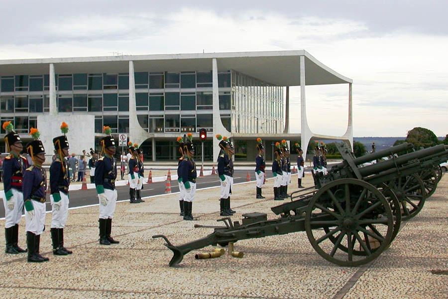 Le Planalto, le palais présidentiel. Cliché H. Théry