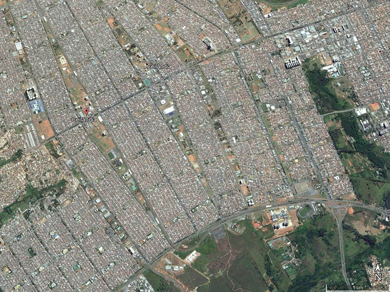 Ceilândia. Google Earth, 2017.