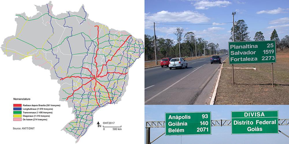 Hervé Théry — cartographie routes brésil carte