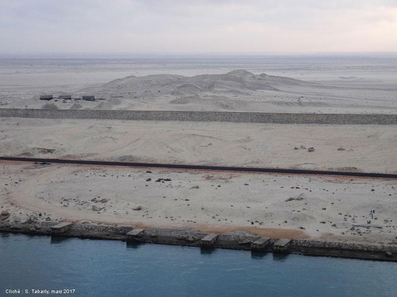 mur coté sinai près d'El Qantara