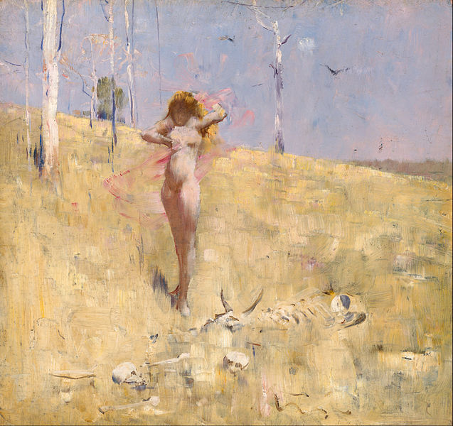 The Spirit of the Drought, Arthur Streeton, vers 1896.