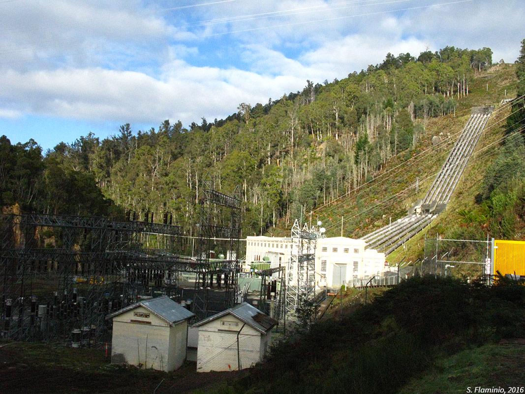 Les conduites forcées de la centrale hydro-électrique de Tarraleah