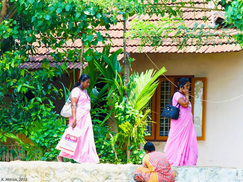 Retour des travailleuses dans les backwaters au Kérala