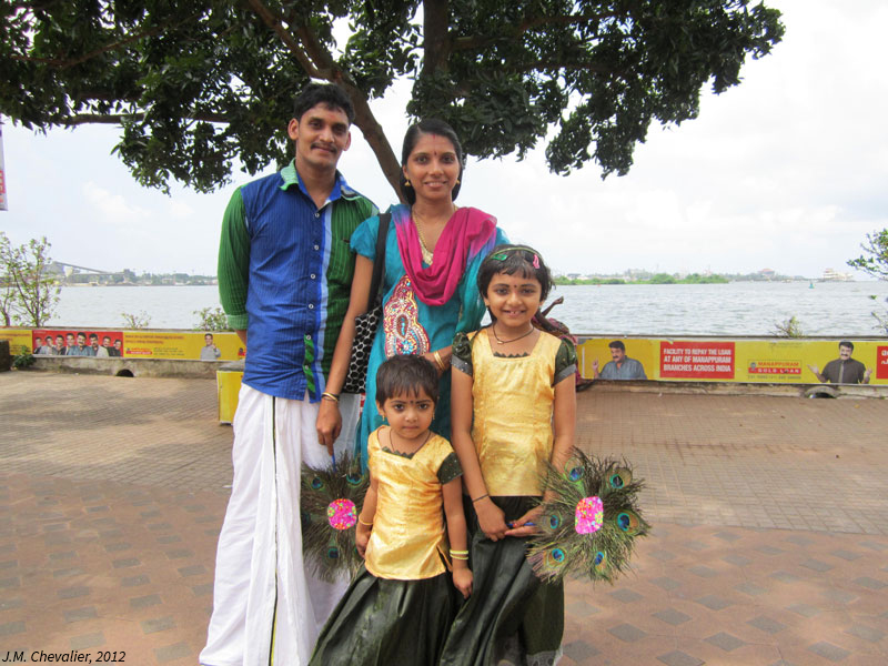 Promenade du dimanche en famille à Cochin (Kérala)