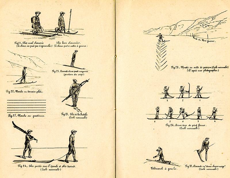 Figures le bon skieur pratiques du ski début 20e siècle