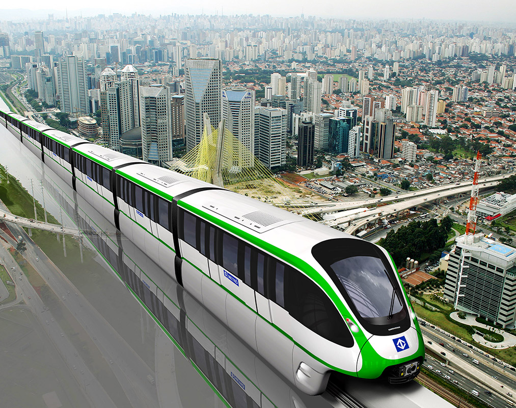 monorail urbain à Sao Paulo vue d'artiste