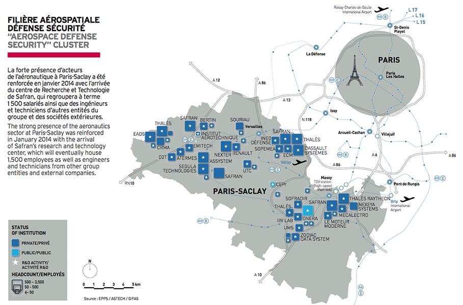 Carte militaire aérospatiale paris-saclay
