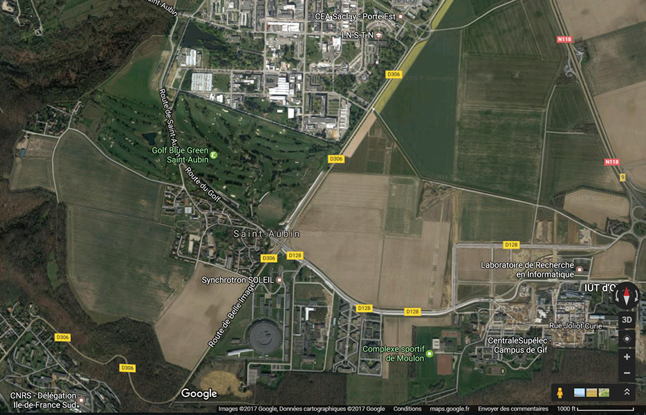 vue aérienne golf de Saint Aubin
