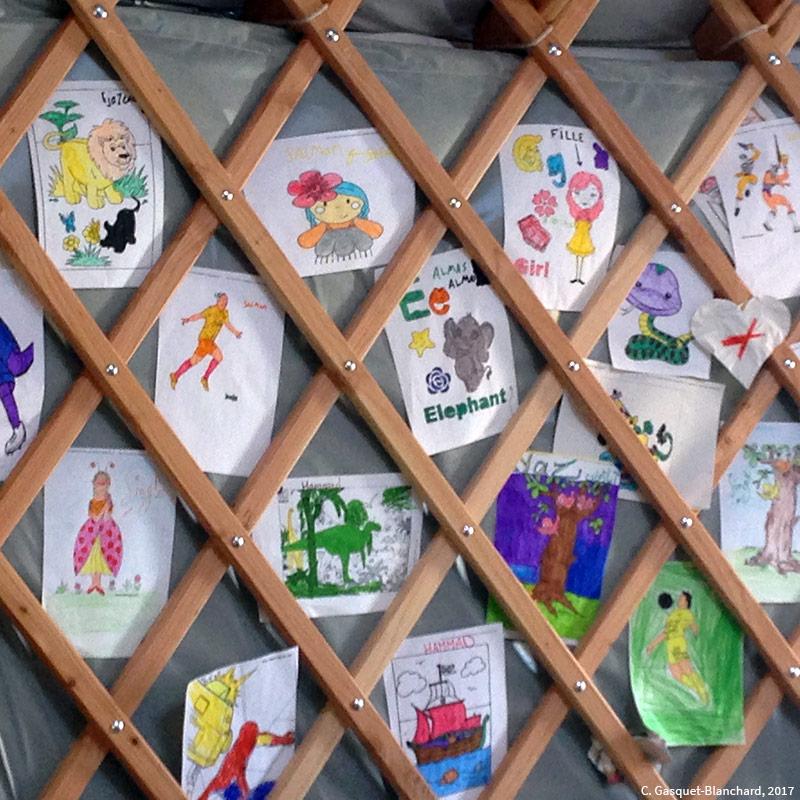 photographie de Clélia Gasquet-Blanchard 2017 — dessins d'enfants