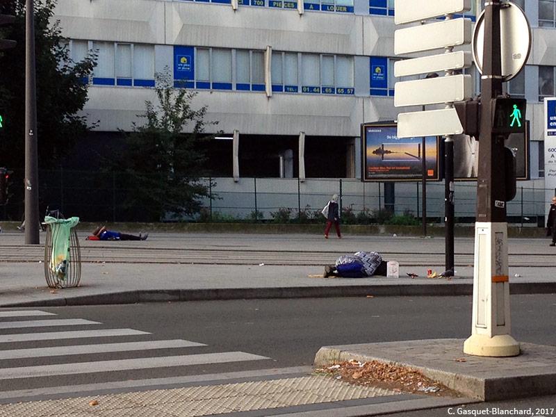 photographie de Clélia Gasquet-Blanchard 2017 — dormir dans la rue