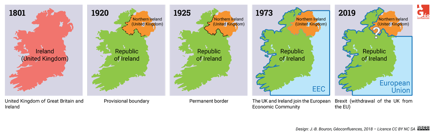 Histoire de la frontière irlandaise en cartes
