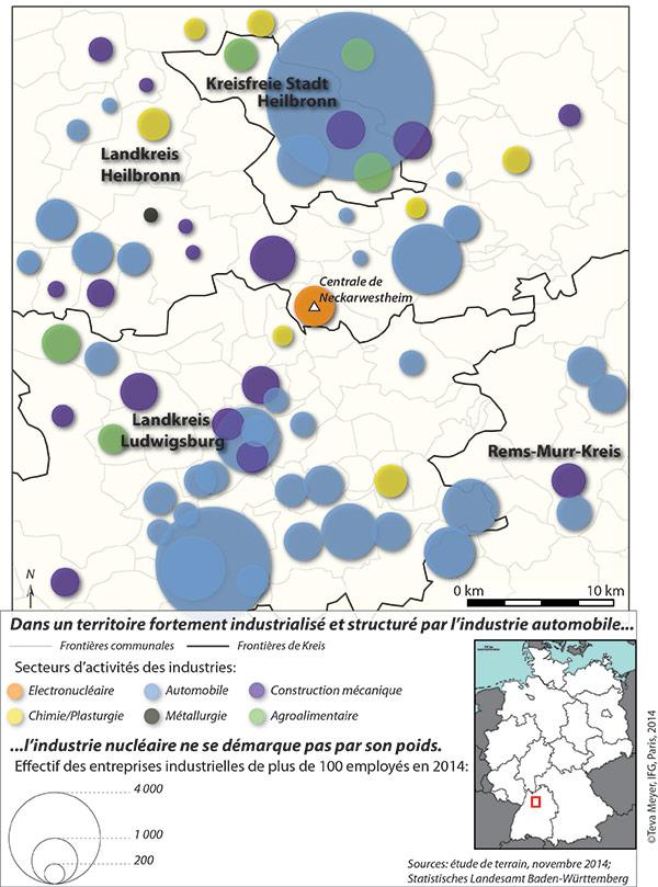 Teva Meyer — carte activités industrielles dans le nord Bade Wurtemberg