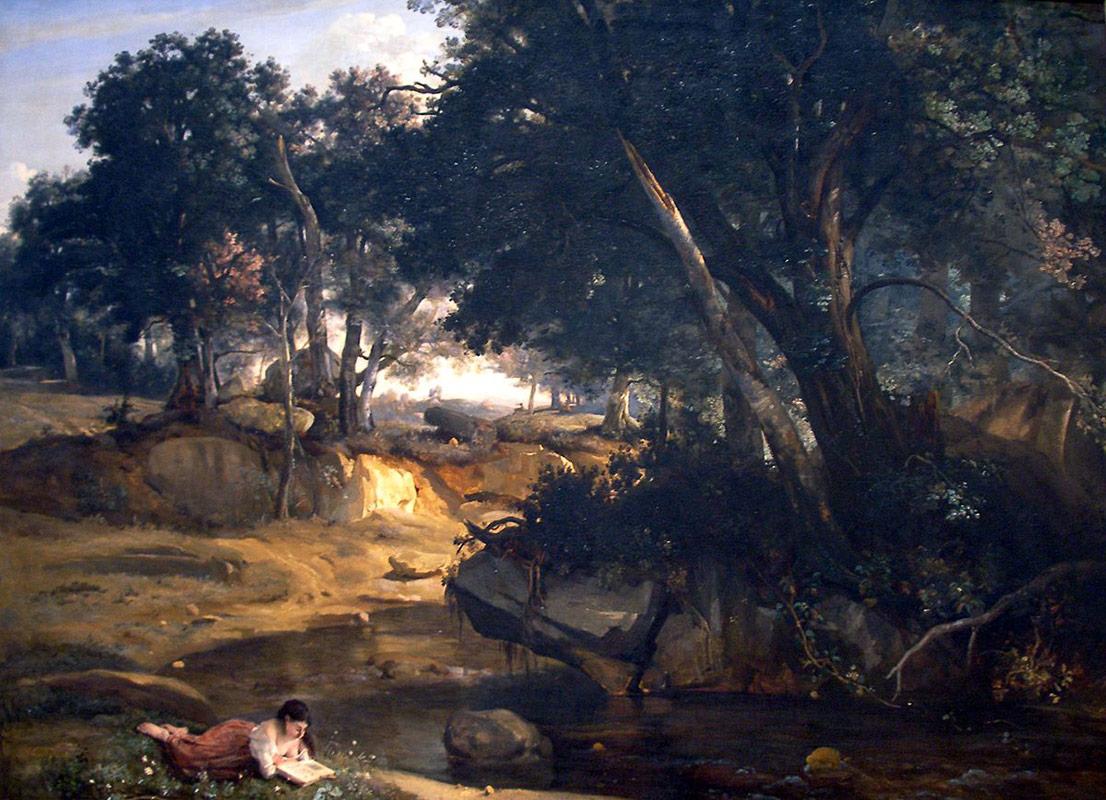 Jean-Baptiste Corot (1796–1875) Forêt de Fontainebleau 1834