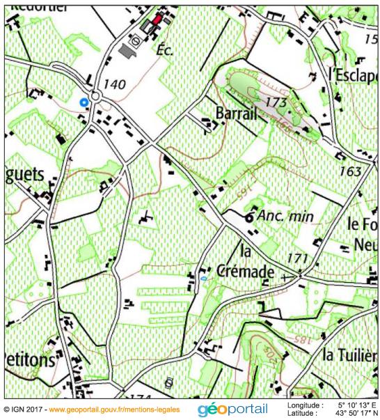 carte topographique IGN — Mitage dans le Luberon