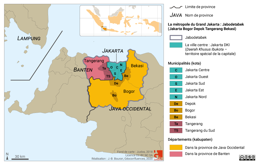 Divisions administratives Jakarta